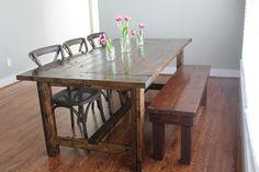 Amazing handmade dining room table!!