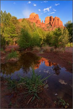 Sunset in Cathedral Rock, Sedona, Arizona by Marc Maiworm