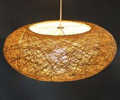 Double Lampshade Hemp Rope Oval Pendant Lightings-Decor by VIWEI