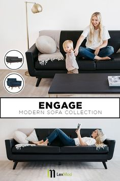 Make the Engage sofa a part of your home this spring. Shop a variety of colors at LexMod.com