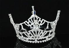 Exquisite Rhinestones Wedding Bridal Pageant Queen Large Tiara Crown