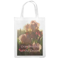 Early Morning Iris Design Reusable Tote Grocery Bag