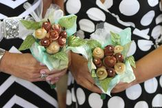 """One San Diego couple tied the knot Sunday, united by their love for each other -- and bacon. Adrienne Dunvan and Eddie Quinones won a contest to get married during the Big Bite Bacon Fest at the San Diego County Fair in a bacon-themed celebration.  The ceremony wouldn't be complete without the """"bacon"""" bouquet."""