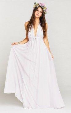 $198 Luna Halter Dress ~ Light Lavender Chiffon Show Me Your Mumu