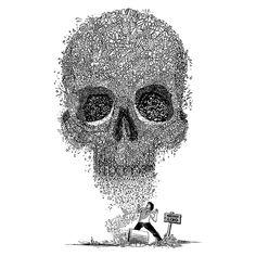 Camiseta 'Lixo da Morte' - Catalogo Camiseteria.com | Camisetas Camiseteria.com - Estampa, camiseta exclusiva. Faça a sua moda!