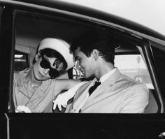 Audrey Hepburn and Anthony Perkins at the Taormina Film Festival in Sicily, 1962.  Photograph by Ezio Vitale