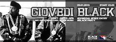 GIOVEDI BLACK – DONEGAL – CAGLIARI – GIOVEDI 22 GENNAIO 2015