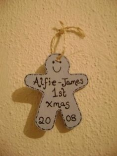 Gingerbread Man Christmas Decoration  Make these with the kids