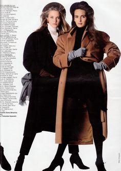 ELLE 12 Oct 1987 Sympathiques Les Mini-Graphiques.  Cecilia Chancellor & Gail Elliott