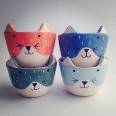 Ceramic Clay, Ceramic Pottery, Slab Pottery, Ceramic Bowls, Pottery Painting, Ceramic Painting, Cerámica Ideas, Gift Ideas, Ceramic Animals