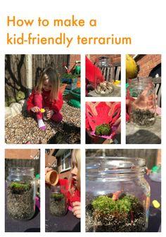 How to make a kid-friendly terrarium from Born to Be Wild by Hattie Garlick #BorntobeWild #RSPB