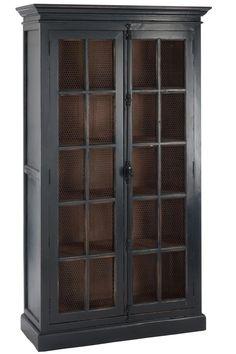 Vaisselier en bois de la marque J-line   KOTECAZ Tall Cabinet Storage, Locker Storage, Diy Furniture, Furniture Design, Kitchen 2016, Modern Cross Stitch, Wabi Sabi, Decoration, China Cabinet