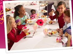 American Girl restaurant  I just love it there. I am glad that I have a girl. :)
