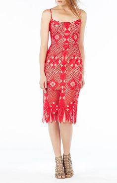 Alese Asymmetrical Geometric Lace Dress