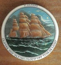 STAFFORDSHIRE POT LID & pin dish with Clipper Ship. Pot Lids, Barware, Dishes, Bar Accessories, Tablewares, Tableware, Cutlery