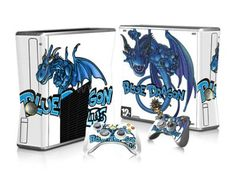 Sticker Xbox 360 slim - Blue Dragon