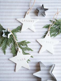 Looking for a quick, personalized DIY gift you can achieve by Christmas (yes really!)? This easy clay star ornament or gift topper is sure to make anyone on your list feel special!!! I love how these turned out! Items needed: Oven bake clay (US, Canada) or local craft store Embossing Kit (US, Canada