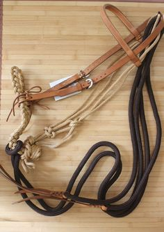 New Breaking Loping Hackamore Headstall Set with Reins Bosal Horse Tack | eBay