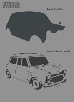 Mini Car Stencil