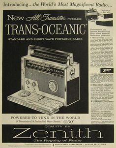 1957 zenith trans-oceanic radio.