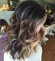 Play/ brown blonde hair, blonde balayage on brown hair, ombre for dark hair Hair Styles 2016, Short Hair Styles, Fall Hair Color For Brunettes, Hair Ideas For Brunettes, Fall Hair Colour, Hair Colors For Summer, Hair Color Ideas For Brunettes Balayage, Medium Length Hair Cuts With Layers, Medium Length Ombre Hair