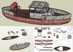 Bootlegger Boat Paper Model - by Papermau - Some Advances    ====            Here some advances of the Bootlegger Boat Paper Model. In the images below you can see the first templates of the beta model and some photos of my test building. More very soon.