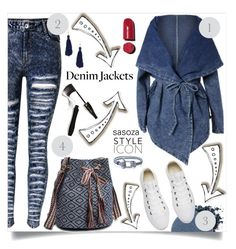 """Denim trend by Sasoza"" by sasooza ❤ liked on Polyvore featuring Anastasia Beverly Hills, Chanel, Lancôme, Converse, Kenneth Jay Lane and vintage"