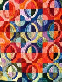 Quilt by Diane Whittier / I love these colors! #Quilt #Quilting