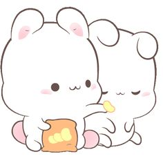 LINE Official Stickers - Happy Bunny Sweetness Example with GIF Animation Cute Cartoon Images, Cute Couple Cartoon, Cute Cartoon Drawings, Cute Love Cartoons, Cute Kawaii Drawings, Cute Animal Drawings, Cute Cartoon Wallpapers, Cute Images, Gif Mignon