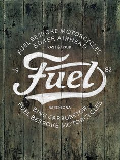 vintage hand-lettering by BMD design Fuel Motorcycles - New logo by BMD Design , via BehanceFuel Motorcycles - New logo by BMD Design , via Behance Shop Signage, Wayfinding Signage, Typography Inspiration, Logo Design Inspiration, Daily Inspiration, Typography Letters, Typography Design, Logos, Motorcycle Logo