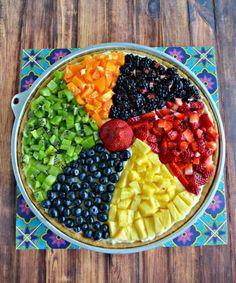 Beach Ball Fruit Pizza is a summertime favorite!   #GiantEaglePerks #ad
