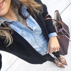 78e9f9e11f84 Herbst 2016, Mode Herbst, Extravagante Schuhe, Schwarze Jeans, Chambray,  Winter-