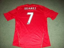 2011 2012 Liverpool Suarez Football Shirt Large Camiseta