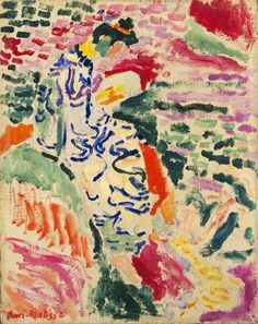 La Japonaise Woman beside the Water: 1905 by Henri Matisse (Museum of Modern Art, NYC) - Fauvism