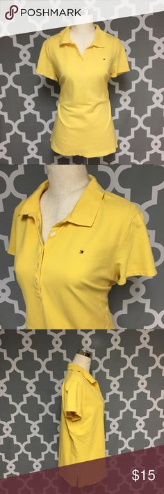 ➕ Tommy Hilfiger Yellow Polo Shirt : H Tommy Hilfiger Classic Yellow Polo Shirt women's size xl good used condition  Approximate measurements  ▪️Pit to Pit inches  ▪️Shoulder to Hem inches  Thank you for checking out my closet! Offers are always welcome or bundle for bigger savings. If you have any questions feel free to ask! Tommy Hilfiger Tops