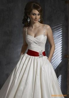 Wedding Dresses with Red Accents | wedding dress with red accent