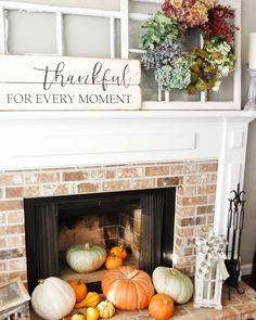 Putting together this Fall Decor was a lot of fun. I saw an expensive wreath in a magazine and copied it. I honestly live the colors in my better! Fall Mantel Decorations, Mantel Ideas, Fall Decor, Decor Ideas, Fireplace Ideas, Pumpkin Decorating, Porch Decorating, Autum Wreaths, Fall Living Room
