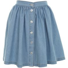 Light Wash Denim Skater Skirt (2.820 RUB) ❤ liked on Polyvore featuring skirts, bottoms, faldas, blue, denim skater skirts, blue skirts, skater skirt, blue denim skirt and miss selfridge
