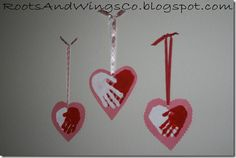 Valentine Hand Hearts---adorable!