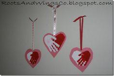 Valentine Hand Hearts---adorable!