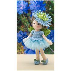 Chicory Fairy ..... #amigurumi #babynursery #ballet #ballerinadoll #childrensgifts #crochet #crochetdoll #clothdoll #dolldress #dolloutfit #fabricdoll #flowerfairies #handmadedolls #kidsdecor #kidsroom #etsy #etsyAU #BubblesAndBongo #あみぐるみ