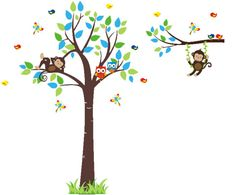Forest Wall Stickers Woodlands Wall Decals by NurseryDecals4You.  https://www.etsy.com/listing/266175814/forest-wall-stickers-woodlands-wall?ref=shop_home_active_49