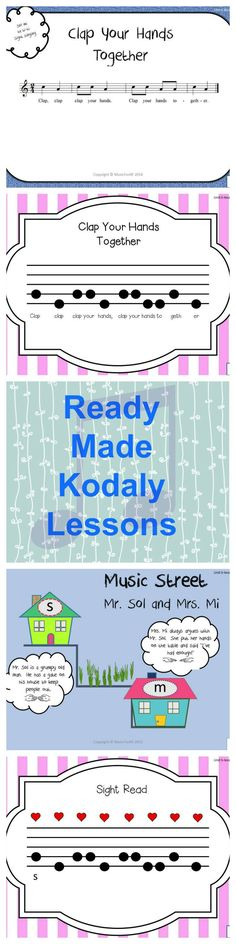 The Kodaly Cookbook!  Lesson 5 contains everything you need for a great lesson.... songs, games, visuals, SMART board activities. Bon Appétit {Click for details}