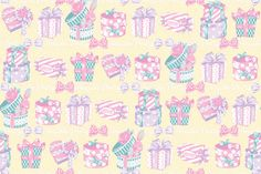 Wrapping Heart series Backgrounds by Angelic Pretty