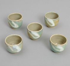 "JAPANESE POTTERY: Daisei Gama ""Yunomi"" Tea Cup, Celadon Color"