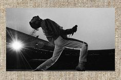 Freddie Mercury photograph black and white  photo print by Milras