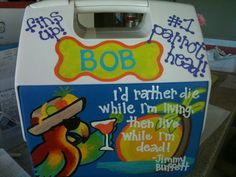 Jimmy Buffet Cooler
