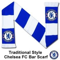 Chelsea FC Bar Scarf by Chelsea. $12.78. This official Chelsea FC traditional style bar scarf is available for immediate delivery. Code: SCARF296 100% acrylic and made in the UK.