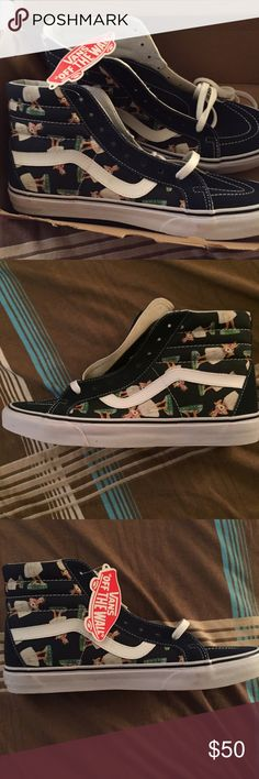96b0c6501c Vans Hula Girl Hightops BNIB Brand new in box high tops. Cute little hula  girls on the sides.  75 retail. Size 11 in men s or 12.5 in women s. Vans  Shoes ...