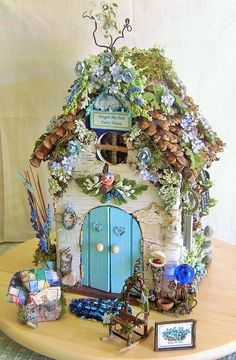 Fairy Garden Miniature Doll FORGET ME NOT Flower FAIRY HOUSE/Remembrance Memorie | eBay